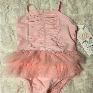 Bathing suit, pink, 3-6 months